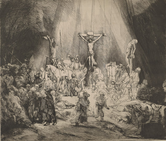 Rembrandt van Rijn, Christ Crucified Between the Two Thieves: The Three Crosses, RvR 122