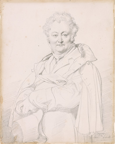 Ingres, Jean-Auguste-Dominique, 1780-1867, Portrait of Guillaume Guillon Lethierre (1760-1832),.1815, 1977.56