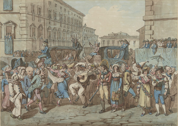 Pinelli, Carnival Scene, Non-Moragn Private Collection (L2016.04.005)