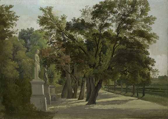 Gustav Wilhelm Palm, Entrance to the Giardino del Lago, Villa Borghese, Rome, 2009.400:91