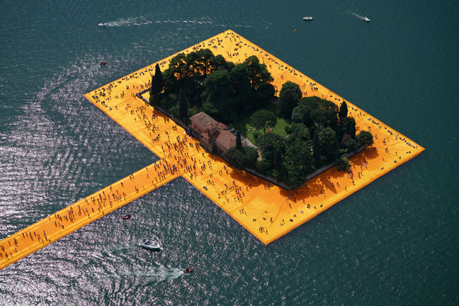 The Floating Piers - The Floating Piers, Lake Iseo, Italy, 2014-16