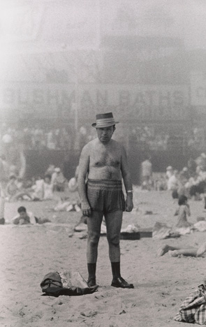 Diane Arbus. Man in hat, trunks, socks and shoes, Coney Island, N.Y. 1960.