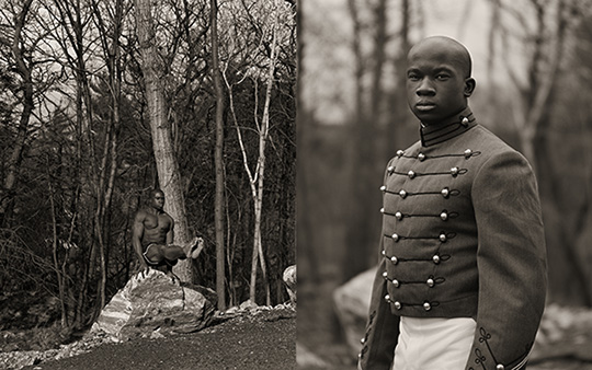 Anderson and Low (Jonathan Anderson, British, born 1961 and Edwin Low, British, born Malaysia, 1957). William Reynolds, Gymnast, United States Military Academy, 2001. Gelatin silver photograph diptych, 20 x 16 in. (50.8 x 40.6 cm) each. Courtesy of the artists/Throckmorton Fine Art. ©Anderson and Low, all rights reserved