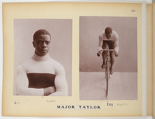 Jules Beau (French, 1864–1932). Major Taylor in the Collection Jules Beau, Photographie Sportive, 1906-1907. Aristotype on paper, 9 13/16 x 13 3/8 in. (25 x 34 cm). Bibliothèque Nationale de France