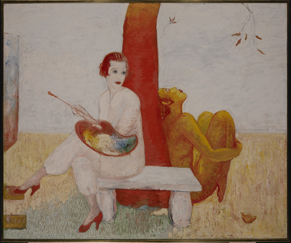 Stettheimer - Self-Portrait with Palette - Columbia