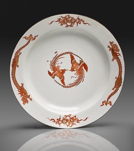 "Large Dish from the ""Red Dragon"" Service Meissen porcelain, ca.1730–35 D: 13 3/8 inches Private Collection"