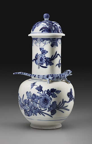 Vase and Cover Meissen porcelain, c. 1725 H: 9 ¼ inches Private Collection