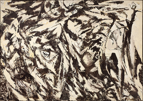 Charred Landscape, Lee Krasner, 1960, oil on canvas, 70x98""