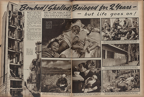 2. Bombed! Shelled! Besieged for two years – but Life goes on!, The Weekly Illustrated, 1938