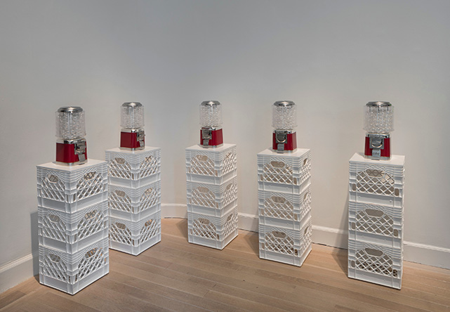 Yoko Ono, Air Dispensers, 1971-2016, capsule dispensers and capsules. Courtesy of the artist.