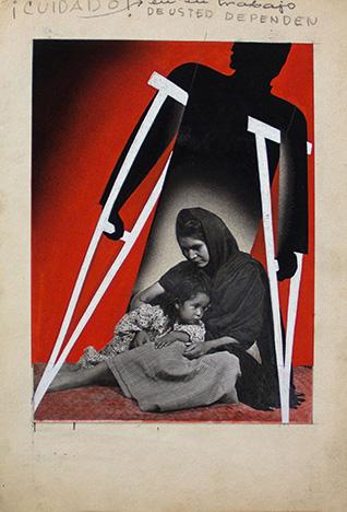 7. Cuidado! En su Trabajo de Usted Dependen (Poster mock-up), c. 1944