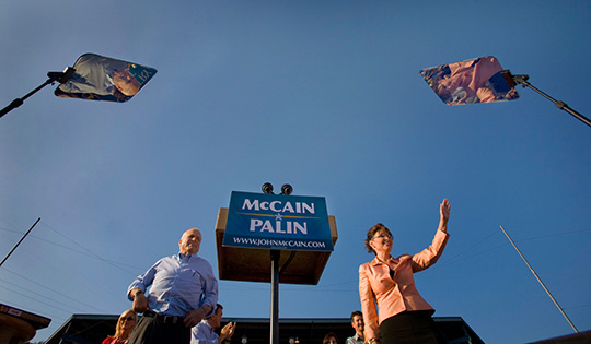 30067398f--083008sdcMCCAIN--John McCain and Sarah Palin at a rally in Washington, PA. photo by STEPHEN CROWLEY/THE NEW YORK TIMES