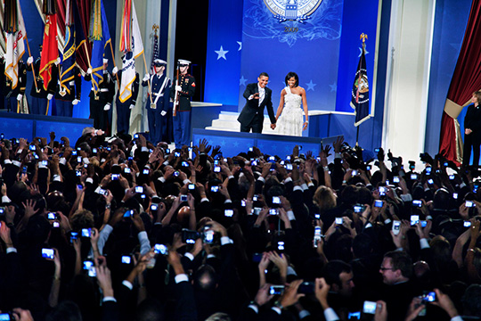 USA. Washington, D.C. January 20th, 2009. President Barack OBAMA and First Lady Michelle at the Home States Inaugural Ball.
