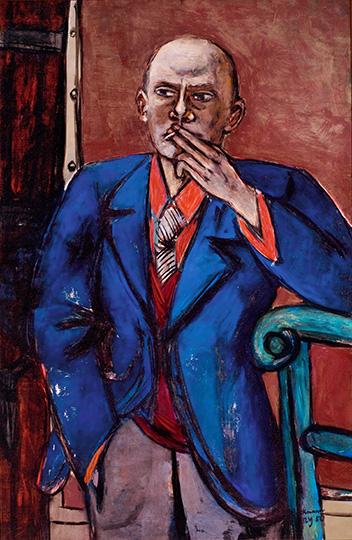 1-max-beckmann-in-new-york_beckmann_self-portrait-in-blue-jacket_saint-louis-art-museum