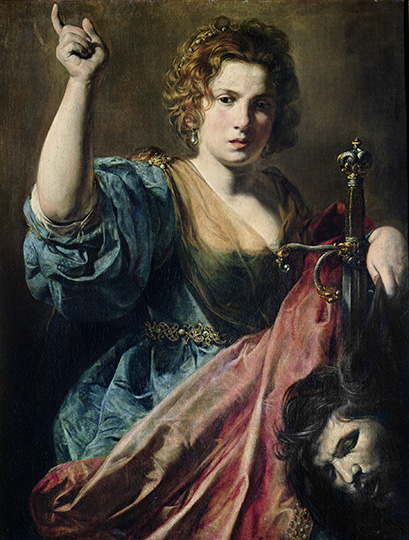 XIR154061 Judith (oil on canvas) by Valentin de Boulogne, (1594-1632); Musee des Augustins, Toulouse, France; Giraudon; French, out of copyright
