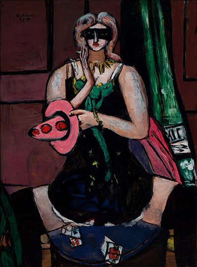 13-max-beckman-in-new-york_carnival-mask-green-violet-and-pink-columbine_saint-louis-art-museum