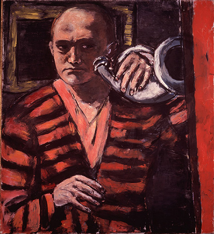 3-max-beckmann-in-new-york_beckmann_self-portrait-with-horn_neue-galerie-new-york-and-private-collection