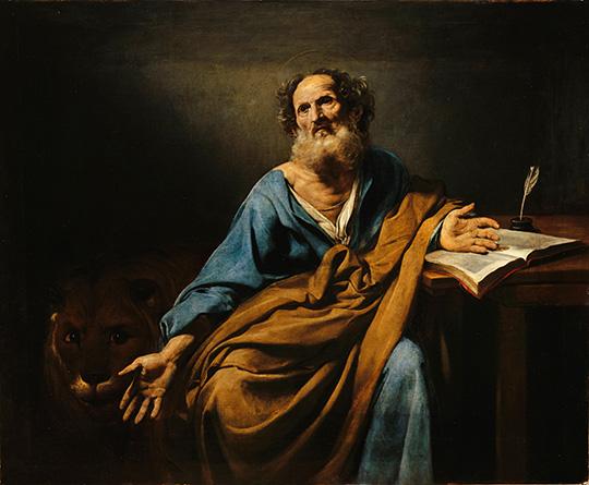 Saint Marc, l'ÈvangÈliste Valentin de Boulogne (1594-1632) Versailles, ch'teaux de Versailles et de Trianon