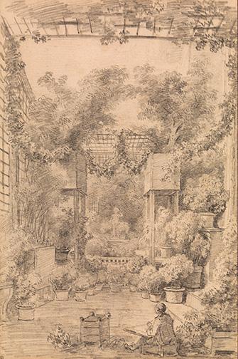 Image result for fragonard draftsman in a trellised garden