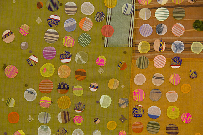 Geeís tikdi textile (detail), 2009. Designed by Christina Kim (American b. South Korea 1957), produced by dosa inc. (Los Angeles, California).