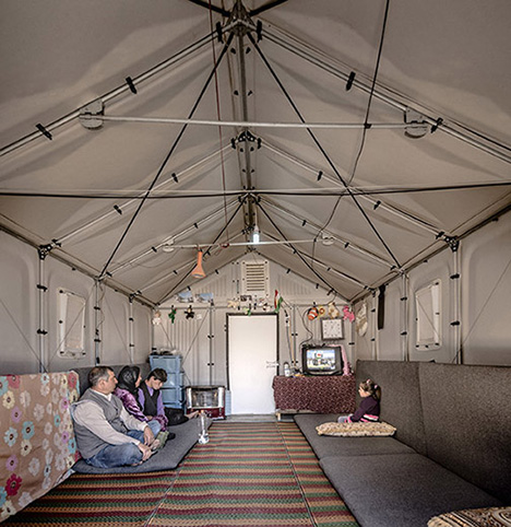 Better Shelter housing units in Kawergosk, Iraq.