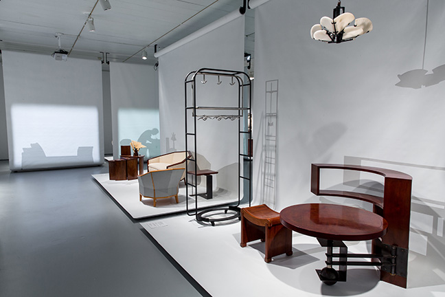 Installation view of the exhibition Pierre Chareau: Modern Architecture and Design, November 4, 2016 ñ March 26, 2017, at The Jewish Museum, NY. Exhibition design by Diller Scofidio + Renfro.