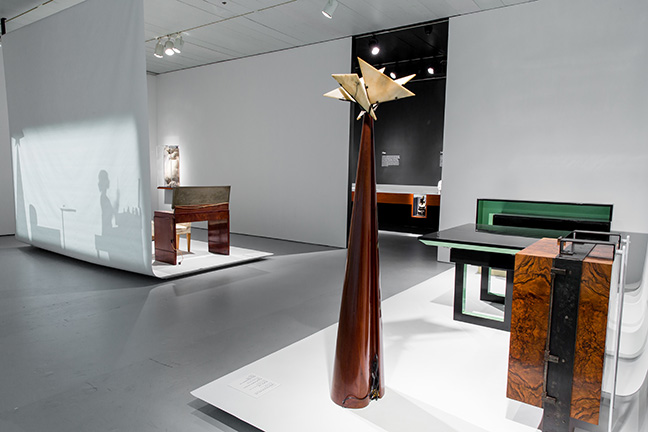Installation view of the exhibition Pierre Chareau: Modern Architecture and Design, November 4, 2016 ñ March 26, 2017, at The Jewish Museum, NY. Photo: Will Ragozzino/SocialShutterbug.com. Exhibition design by Diller Scofidio + Renfro.