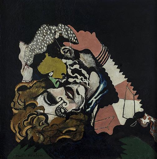 """Francis Picabia (1879-1953). """"Les Amoureux (après la pluie)"""". Ripolin sur toile. vers 1924-1925. Paris, musée d'Art moderne."""