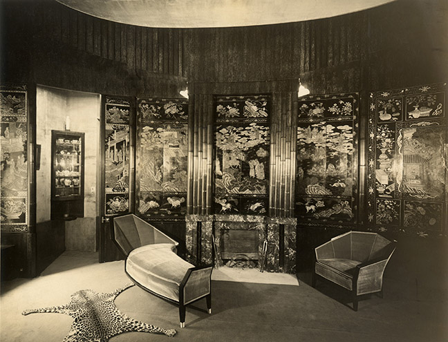 Living room in the Paris apartment of HÈlËne Bernheim, 1923, designed by Pierre Chareau.