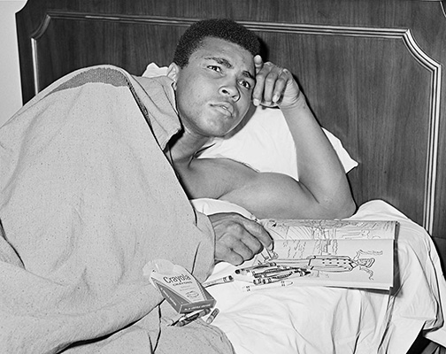 circa March 8, 1967: Muhammad Ali trains in New York City for his March 22, 1967 fight vs. Zora Folley.