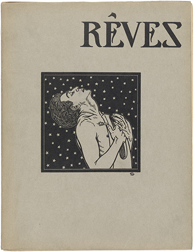 Schreiner, Olive, 1855-1920. Reves / Paris : E. Flammarion, 1912, front cover, illustation by Carlos Schwabe, PML 143985, (adjusted with extra white on all sides)