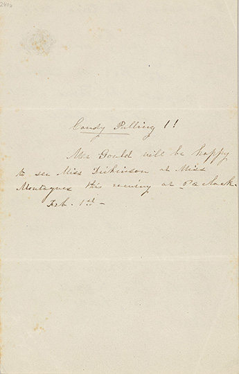 Emily Dickinson, I suppose the time will come verso, (F1389), Amherst Collection Archives & Special Collections, AC 240, L2016.95.58