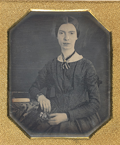 Daguerreotype of Emily Dickinson, Amherst, Mass., ca. 1847, Amherst College Archives & Special Collections, L2016.95.49