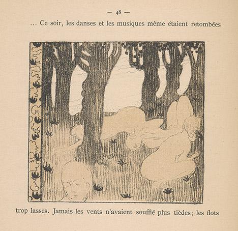 Gide, Andre, 1869-1951. Le voyage d'Urien / Paris : Librairie de l'art independant, 1893, p. 48 lithograph by Maurice Denis, PML 140769