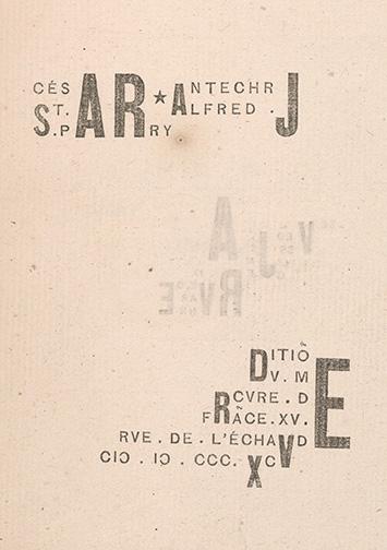 Jarry, Alfred, 1873-1907. Cesar antechrjst / [Paris] : Editio[n] dv Mercvre de Fra[n]ce, 1895, title page, PML 195786.