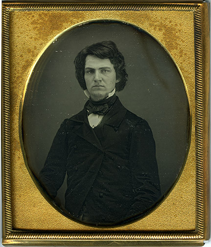 Daguerreotype of William Austin Dickinson, Amherst College Archives & Special Collections