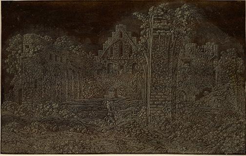 Datierung: um 1620/1630Material/Technik: Radierung in Weiß auf bräunlichem PapierBlattmaß: 20,1 x 31,6 cmInventar-Nr.: 961-13