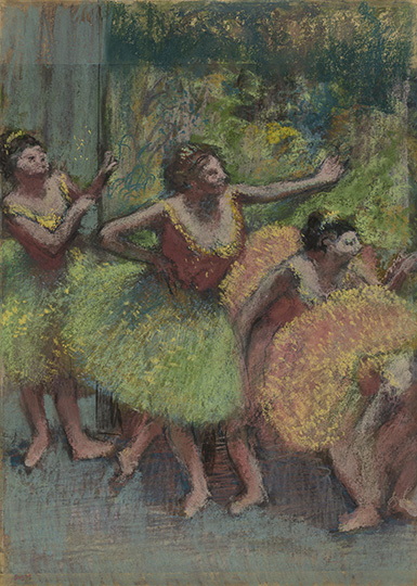 Edgar Degas, Dancers in Green and Yellow (Danseuses vertes et jaunes), ca. 1903