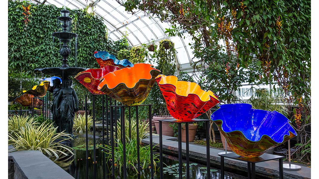 CHIHULY at New York Botanical Garden fall art