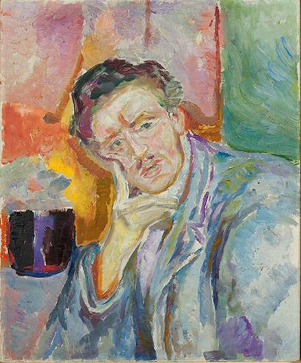 Edvard Munch Self Portrait In Hell