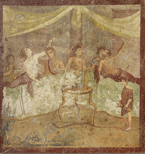 Dinner Party (c) Museo Archeologico Nazionale di Napoli