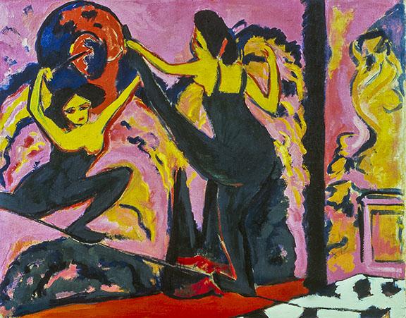 1. Ernst Ludwig Kirchner, Tightrope Walk, 1908-10. Neue Galerie New York