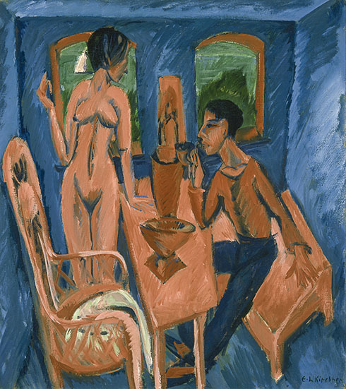 10. Ernst Ludwig Kirchner, Tower Room Fehmarn, 1913. Columbus Museum of Art, Ohio