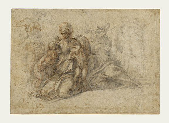 The Holy Family (recto); Amorous Putti (verso)