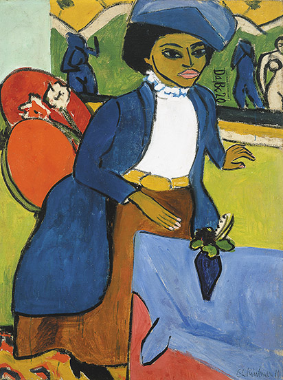 7. Ernst Ludwig Kirchner, Portrait of a Woman, 1911. Collection Albright-Knox Art Gallery, Buffalo, New York