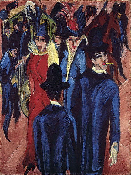 8. Ernst Ludwig Kirchner, Berlin Street Scene, 1913-14. Neue Galerie New York and Private Collection