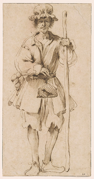 Guercino, 1591-1666. The Bird-Catcher [drawing]. 17th century. 1979.8
