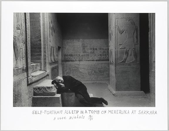 Michals, Duane, Self-Portrait Asleep in a Tomb of Mereruka Sakkara  1978, 2018.42