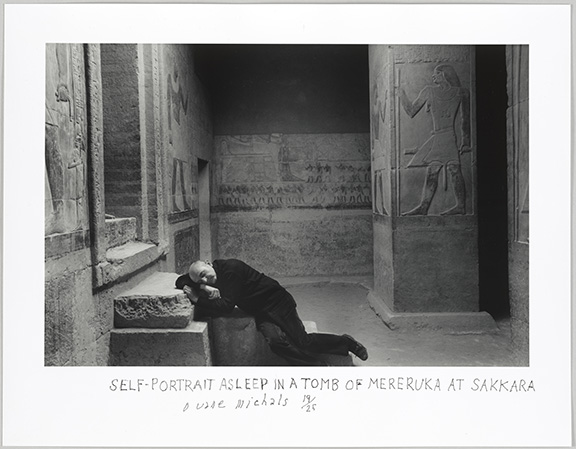Michals, Duane, Self-Portrait Asleep in a Tomb of Mereruka Sakkara  1978, 2018.42