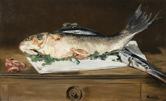 "M.1978.25.PManet ""Still Life with Fish and Shrimp"""